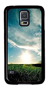 Samsung S5 case customizable cover Rising Sun PC Black Custom Samsung Galaxy S5 Case Cover
