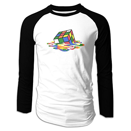ube Cotton Long Sleeve Raglan T-Shirt Large Black ()