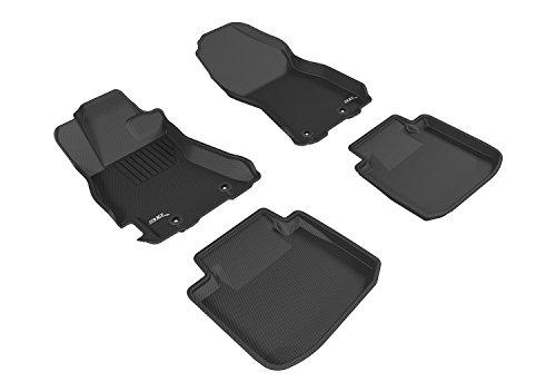 3D MAXpider Custom Fit Complete Floor Mat Set for Select Subaru Legacy/Outback Models - Kagu Rubber (Black)