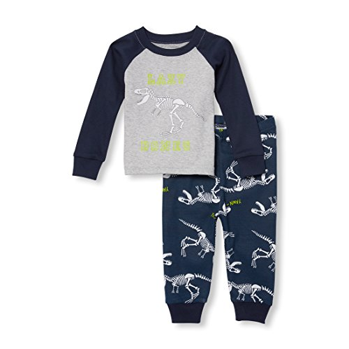 - The Children's Place Baby Boys 2 Piece Long Sleeve Pajama Set, Tidal, 3-6MONTHS