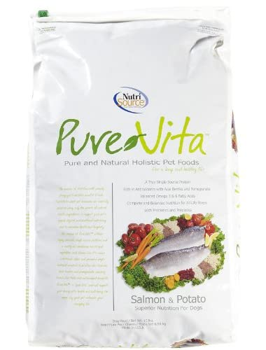 Pure Vita, Dry Dog Food, Salmon & Potato, 15 lb