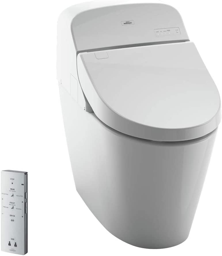 Toto Ms920cemfg 01 G400 Washlet Bidet Seat With Integrated Dual Flush 1 28 Or 0 9 Gpf Toilet Large Ltl Cotton White Amazon Com