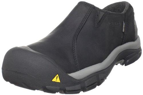 KEEN Men's Brixen Lo WP Insulated Shoe,Black/Gargoyle,10.5 M