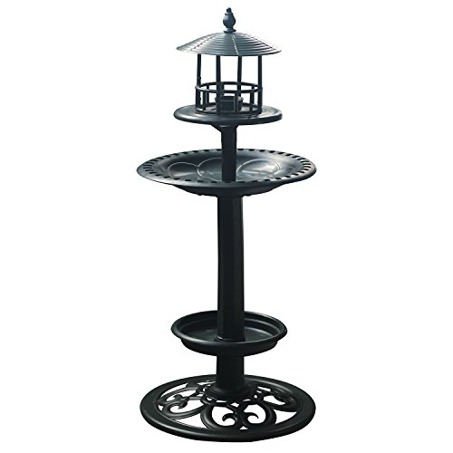 Amazing Plastic Birdbath Bird Feeder With Planter For Garden Lawn or Balcony 23.5