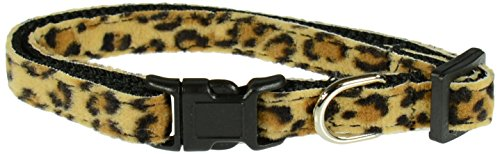 Evans Collars Adjustable Nylon Collar, Small, Animal Prints, Leopard