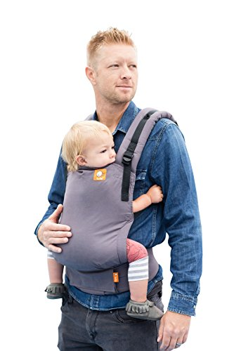 Baby Tula Free-to-Grow Baby Carrier, Adjustable Newborn to Toddler Carrier, Ergonomic and Multiple Positions for 7 – 45 pounds – Stormy (Gray)