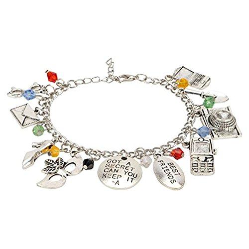 Athena Brand Pretty Little Liars Charm Bracelet TV Show Series Premium Jewelry Multi Charms Collection