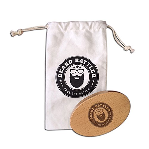 Brosse à barbe - Pocket sanglier brosse cheveux doux - ajouter au Kit de toilettage pour hommes - meilleur tour barbe soins peigne pour hommes - fonctionne très bien avec l'huile, baume & cire - bois & inclut commode petit sac cadeau