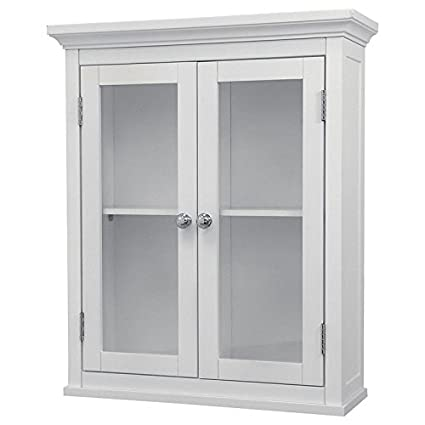 Beautiful Bathroom Wall Cabinet White For Mounted Wood Cabinets With Doors Glass  Front Storage Medicine Bath Wall