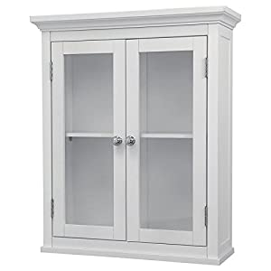bathroom wall cabinets white. Bathroom Wall Cabinet White For Mounted Wood Cabinets With Doors Glass  Front Storage Medicine Bath Elegant Home Mount Modern Wooden Narrow In 2 door Amazon com