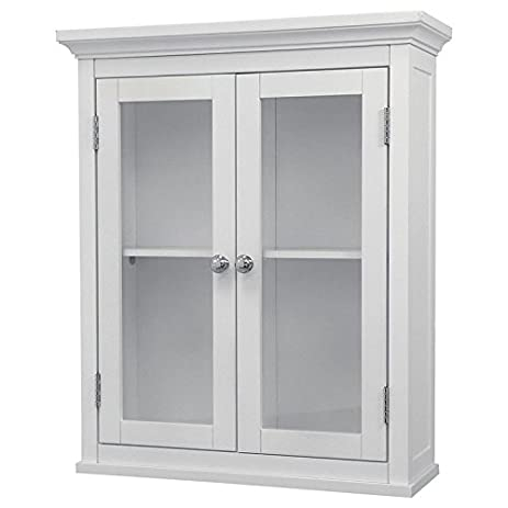 bathroom wall cabinet white. Bathroom Wall Cabinet White For Mounted Wood Cabinets With Doors Glass  Front Storage Medicine Bath Amazon com
