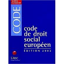 Code De Droit Social Europeen