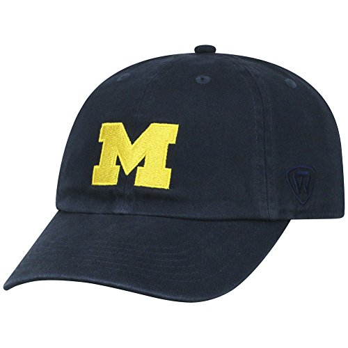 - NCAA Michigan Wolverines Elite Fan Shop Kids Adjustable Relaxed Fit Team Hat, Navy