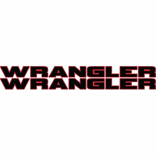 Jeep Wrangler hood decal pair 2 color sticker. Fit all model jeep wrangler hoods. Multiple color options (Red/Black)