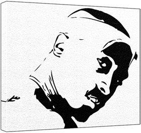 Tupac black and white stencil