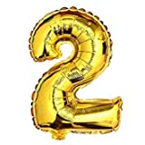 """32"""" Gold Helium Balloon Number 2"""
