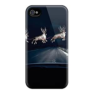 Durable Protector Case Cover With Benz Deer Hot Design For Iphone 4/4s by runtopwell
