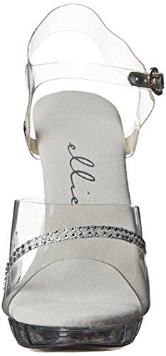 Ellie Shoes Women's M Jewel Platform Sandal Clear cheap sale fake xtXvJcGJS