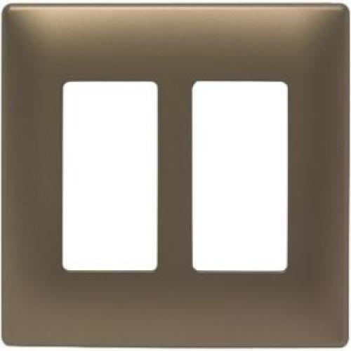 Pass & Seymour SWP262ABBPCC10 Two Gang Decorative Wall Plate, Brass