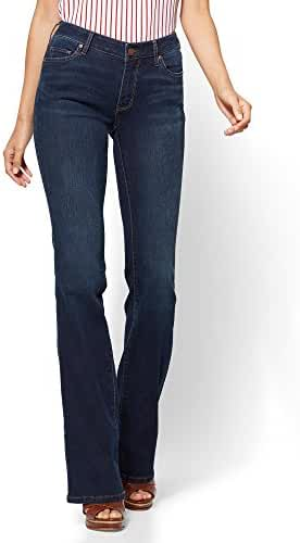 New York & Co. Women's Soho Jeans - Curvy Bootcut - Highland Blue Wash - Petite