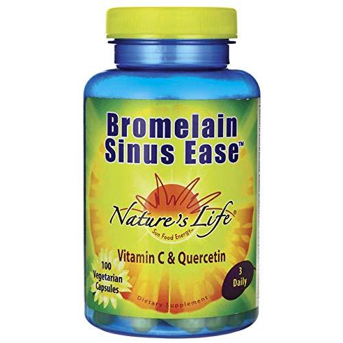 Nature's Life Bromelain Sinus Ease, 1200 Mg, 100 Capsules