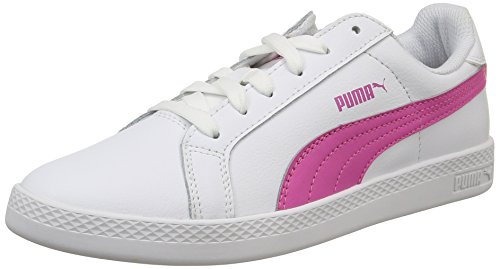 Puma Smash Leather, Women's Tennis Shoes White (White/Phlox Pink)
