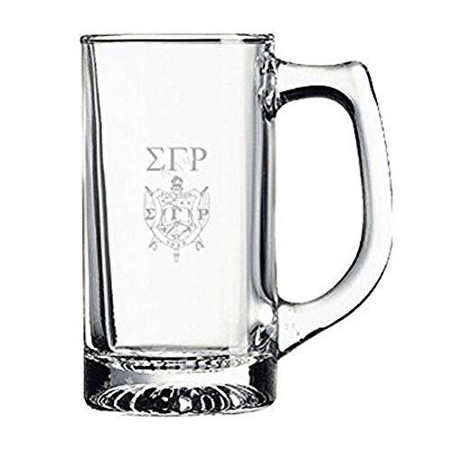 Sigma Gamma Rho Glass Engraved Mug Transparent