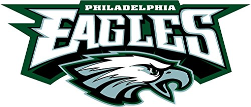 Philadelphia Eagles NFL Football Sport Set of 2 Art Decor Vinyl Sticker 14'' X 6'' ()
