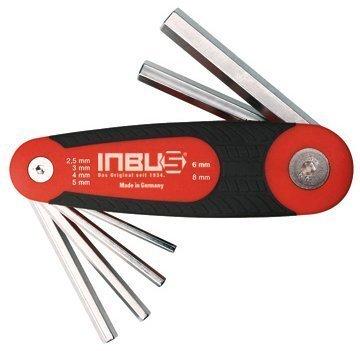 INBUS® 70136 Inbusschlüssel Set Klapphalter 6tlg. 2,5-8mm   Made in Germany   Innensechskant-Schlüssel   Winkel-Schlüssel   metrisch   Fahrradwerkzeug