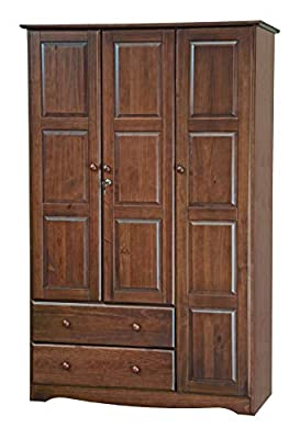 100% Solid Wood Grand Wardrobe/Armoire/Closet by Palace Imports from Palace Imports