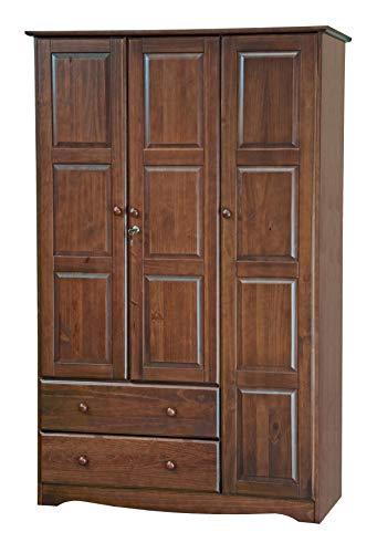 Armoire Grande - Palace Imports 100% Solid Wood Grand Wardrobe/Armoire/Closet, Mocha, 46