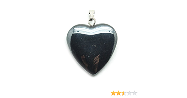 Hematite Heart Pendant Necklace  Earring Set