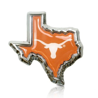 University of Texas Logo in TX shape Metal Car Emblem by Chrome Auto Emblems