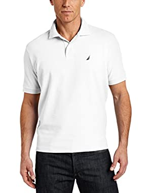 Men's Big & Tall Solid Deck Polo Shirt, Bright White, 3XLT