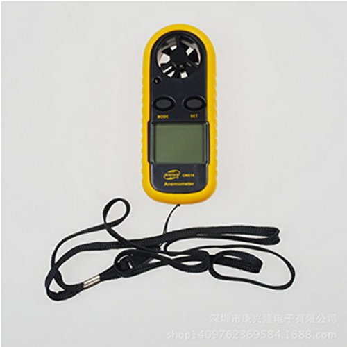Toolso Speed Scale Gauge Meter Thermometer GM816 Pocket LCD Digital Anemometer Air Wind Speed Scale Handle Tools