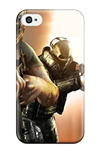 Tpu Fashionable Design Army Of Two Rugged Case Cover For Iphone 4/4s New