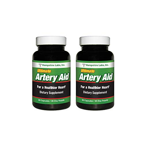 Ultimate Artery Aid Supplement for Heart Health Support, addresses Poor Circulation and Targets clogged Arteries Throughout The Body. Helps Remove toxins and Supports Clean and Supple Arteries. (2)
