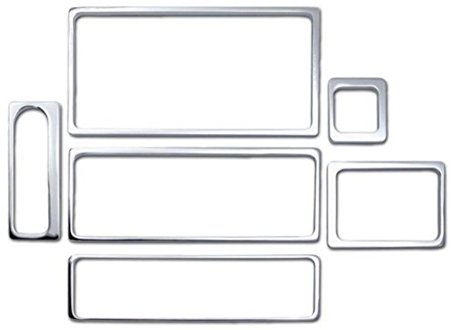 Pirate Mfg H20049SC 2003-07 H2 Hummer SUV & SUT Chrome Billet 6 Piece Dash Trim ()