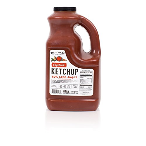 True Made Foods Vegetable Ketchup, Paleo Friendly, Non-GMO, Low Sugar, 128 oz Plastic Jug by True Made Foods