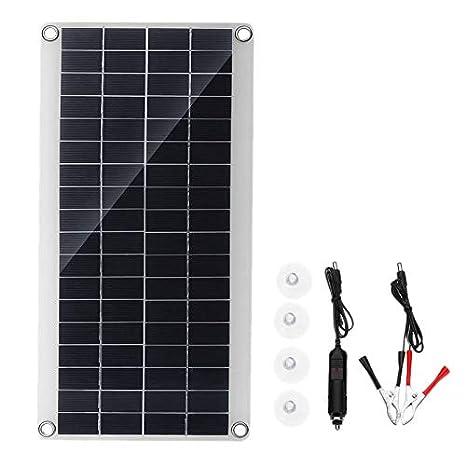 TOOGOO Panel Solar 25W 12V Doble USB Tablero de Banco de ...