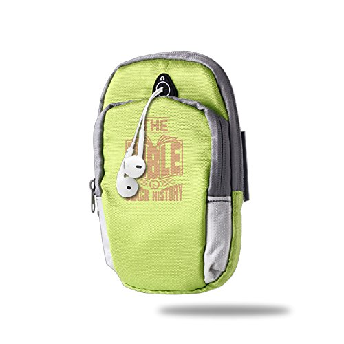 The Bible Is Black History Man And Women Hiking Arm Bag Work Out Pocket For Mp3