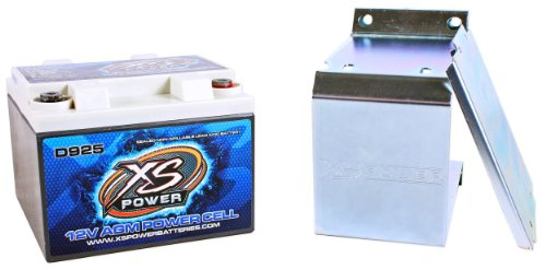 XS Power D925 2000 Amp AGM Power Cell Car Audio Battery + 527 Mounting Kit by XS Power