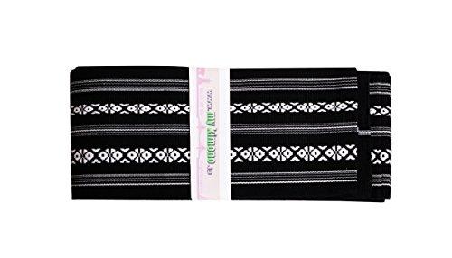 myKimono Men's Traditional Japanese Kimono Yukata Iaido Kaku OBI Belt (Black) 01 ()