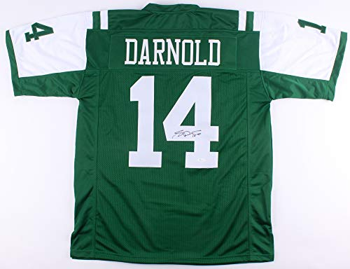 (SAM DARNOLD SIGNED NEW YORK JETS JERSEY w/JSA WITNESS PROTECTION COA ROOKIE QB)