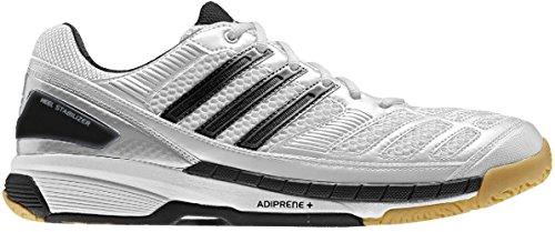 premium selection d7bf4 a4f3c Galleon - Adidas BT Feather Badminton Indoor Shoes WhiteBlack, EU Shoe  SizeEUR 38.5