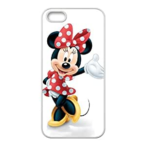 Disney Mickey Mouse Minnie Mouse iPhone5s Cell Phone Case White yyfabc-497224