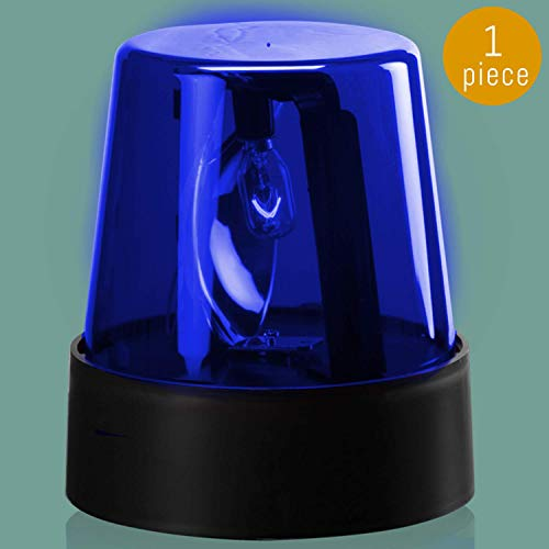 Lumistick 7 Inch LED Police Light Party Beacon | Rotating Flashing Alert Ultra Bright Emergency Warning Light for Party (Blue, 1 Police
