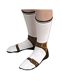 Bits and Pieces - Sandal Novelty Silly Socks - Great Gift - Cotton Socks, Size 6-12