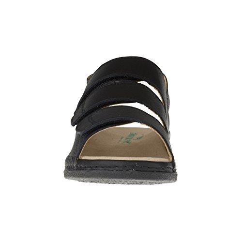 Tessamino Dames Orthopedische Sandalen Van Leer | Breed J | Voor Storting-zwart