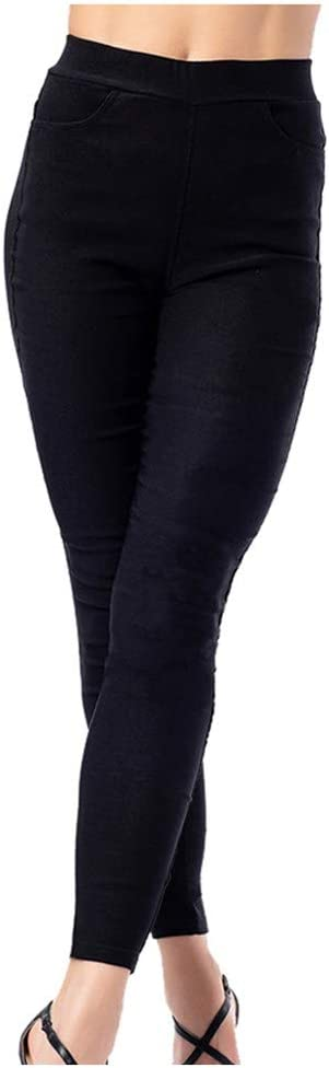 Excursion Clothing Womens Comfort Modern Stretch Skinny Ankle Length Pant Pull-on Tummy Control Legging with Pocket